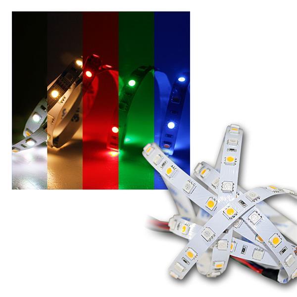 5m RGBW Streifen, 24V DC, 60 LED/m, PCB-w, 12,5W/m