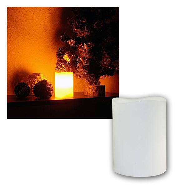 LED Echtwachs-Kerze mit Blasfunktion ØxH 7,5x10cm