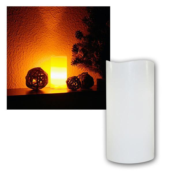 LED Echtwachs-Kerze mit Blasfunktion ØxH 7,5x15cm