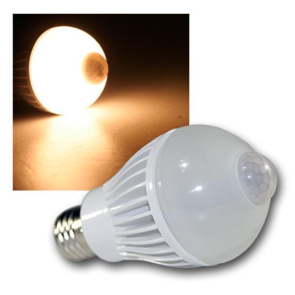 LED Birne E27 PIR 5W warm weiß Bewegungsmelder 320lm