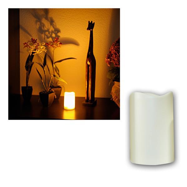 LED Kerze Höhe 11,5cm mit Timer, Ø7,5cm, für Außen