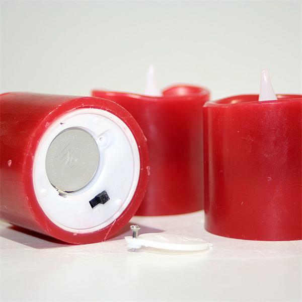 batteriebetriebene Wachskerzen mit Ein- und Ausschalter