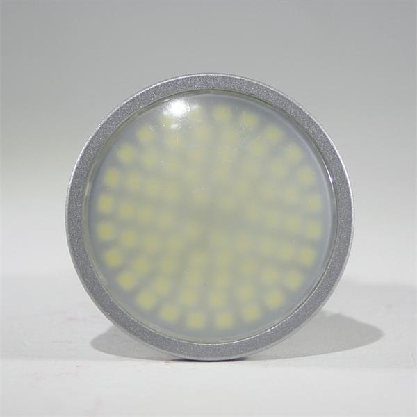 LED Leuchtmittel GU10 mit 70x SMD LEDs und satinierter Lichtaustrittsfläche für weniger Blendung