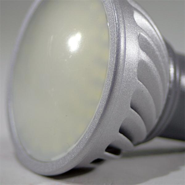 GU10 LED Spot mit abschließender Schutzglasabdeckung und dem Maß 50x63mm