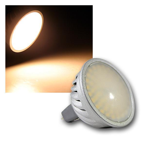 10er Set LED Strahler MR16, 70 SMDs warmweiß 380lm