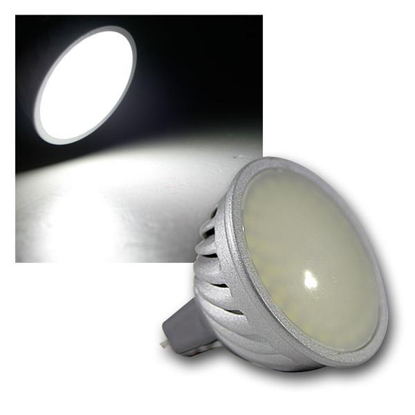 LED Strahler MR16 70 SMDs kalt weiß 400lm 12V