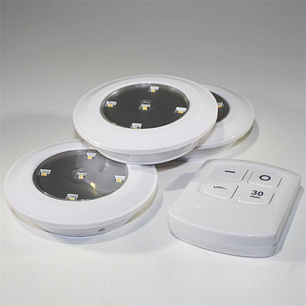 LED Downlights 3er Set mit Fernbedienung erweiterbar bis auf 20 Leuchten
