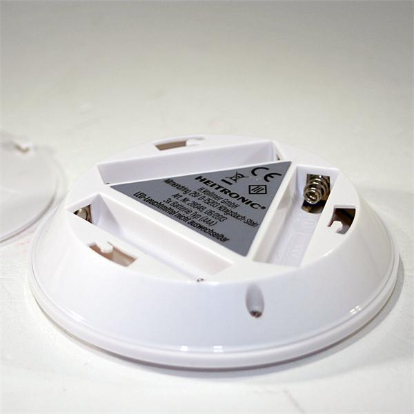 LED Batterie-Spots mit 5 SMD LEDs in warm-weiß für 3x AA-Batterien