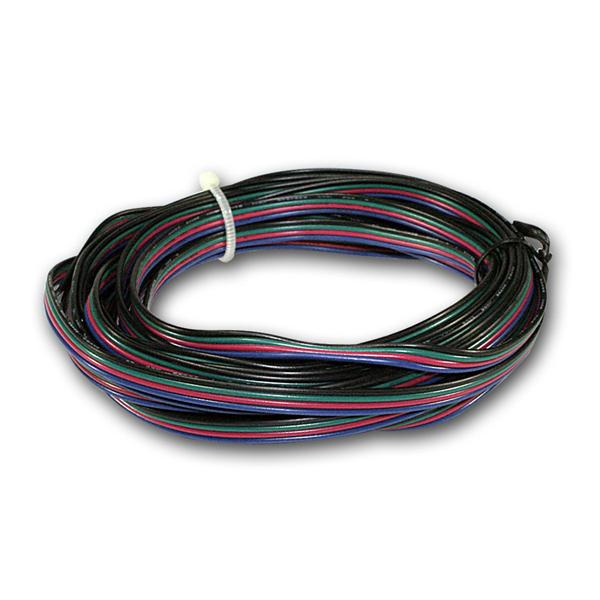 5m Ring Litze 4-adrig für RGB LED, 0,14mm², Kabel