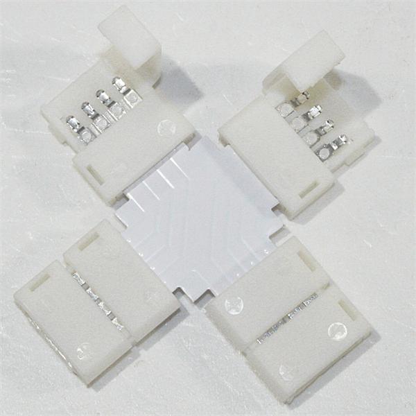 Klemmverbinder für vier flexible 4-polige SMD LED Streifen