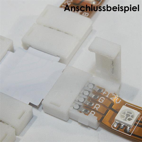 Klemme für Verbindung über Kreuz von vier RGB LED Strip