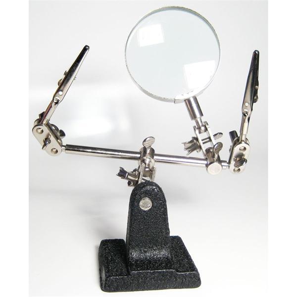 praktische Tischlupe mit Echt-Glas Lupe mit 2-facher Vergrößerung
