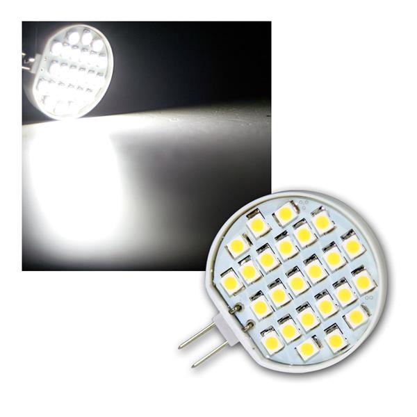 Stiftsockellampe G4 24xSMD LED kalt weiß 100lm 1,5W