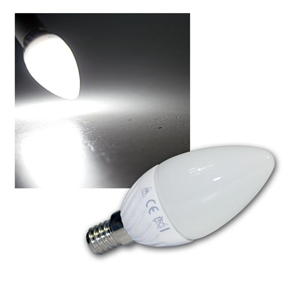 LED Kerzenlampe E14 K40 SMD kalt weiß 320lm