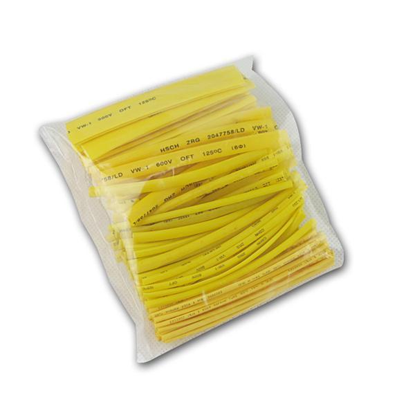 Schrumpfschlauch-Sortiment, 100-teilig, gelb
