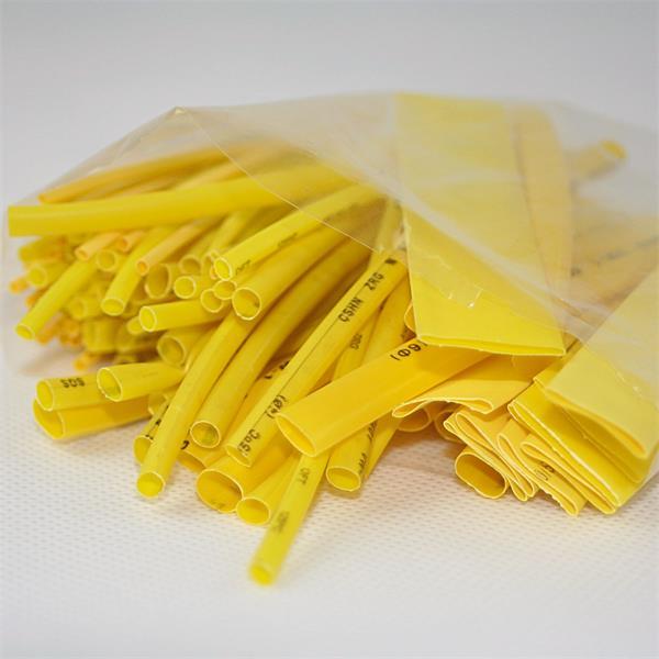 gelber Schrumpfschlauch im Set für kleine Reparaturarbeiten