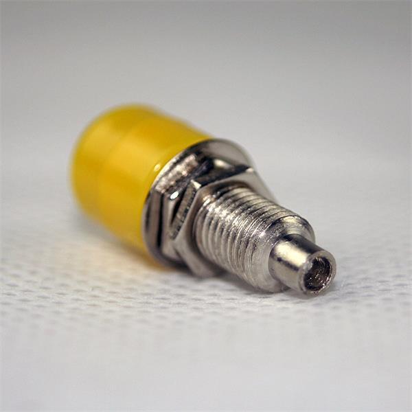 Steckverbinder für Audio- oder Videokabel, kontaktsicherer Anschluss
