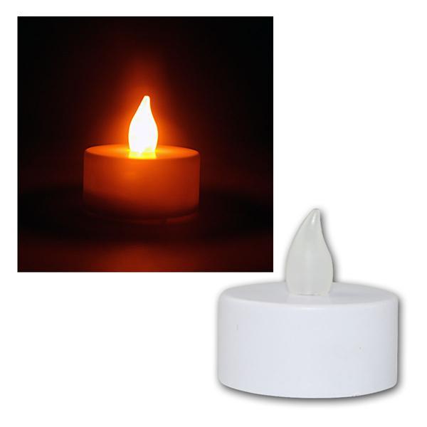 12er Set LED Teelichter, flackernde Kerzen elektri