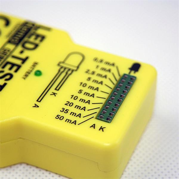 Funktionstester für LEDs für Prüfstrom 0,5-1,0-2,5-5,0-10,0-20,0-35,0- 50,0 mA