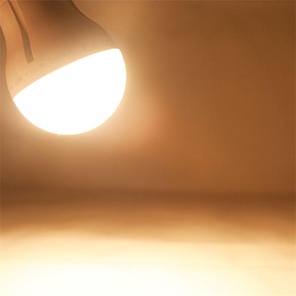 LED Energiesparlampe mit einem Abstrahlwinkel von 160° und 810lm Lichtstrom