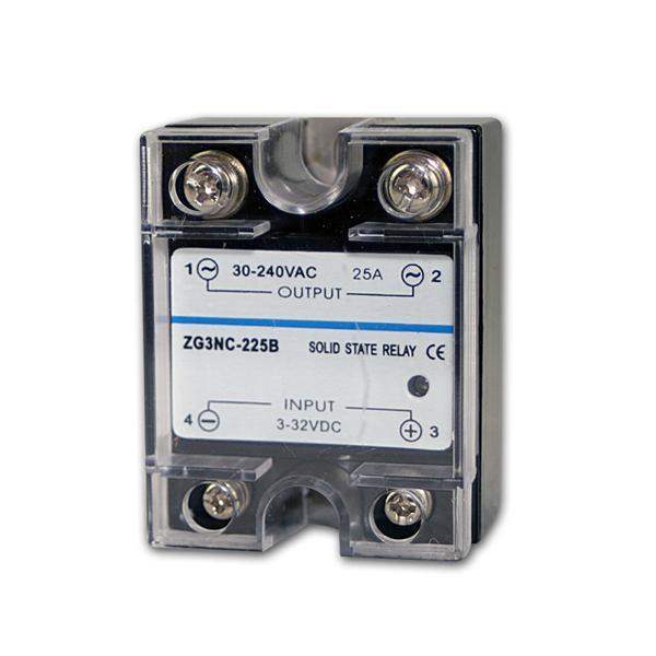elektr. Lastrelais (Triac) 3-32VDC / 30-240VAC 25A