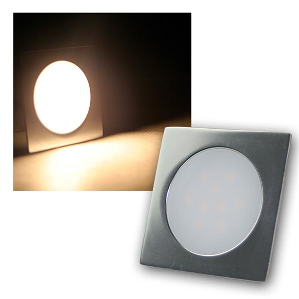 Einbauleuchte EBL-Slim-Q IP67 9 LEDs warm weiß Alu