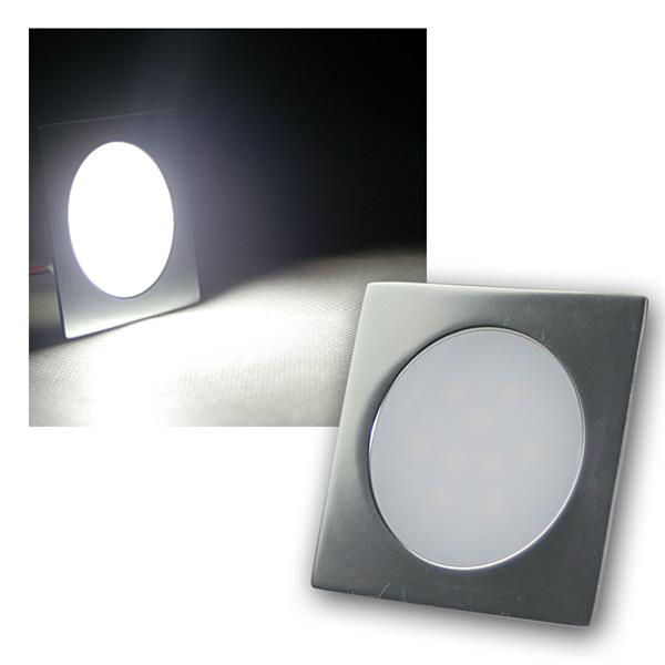 Einbauleuchte EBL-Slim-Q IP67 9 LEDs kalt weiß Alu