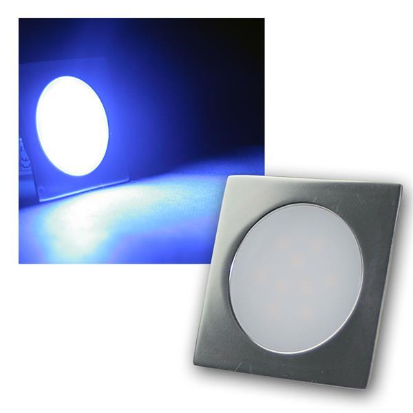 Einbauleuchte EBL-Slim-Q IP67 9 LEDs blau Alu-matt