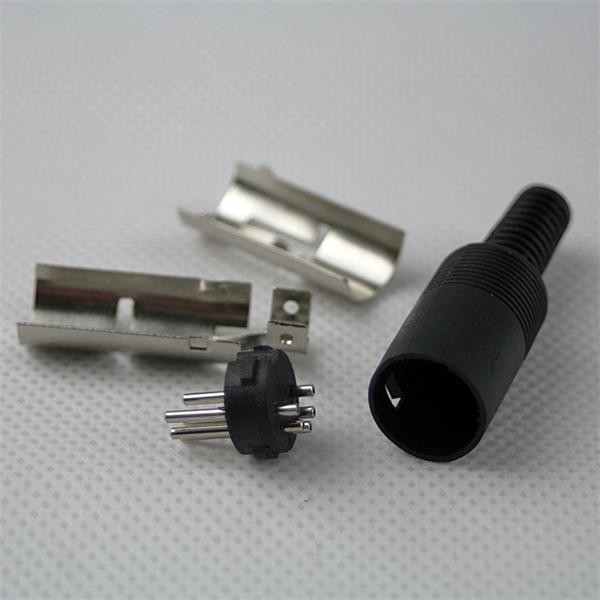 DIN-Steckverbinder mit Rundkabelausgang und Lötanschluss