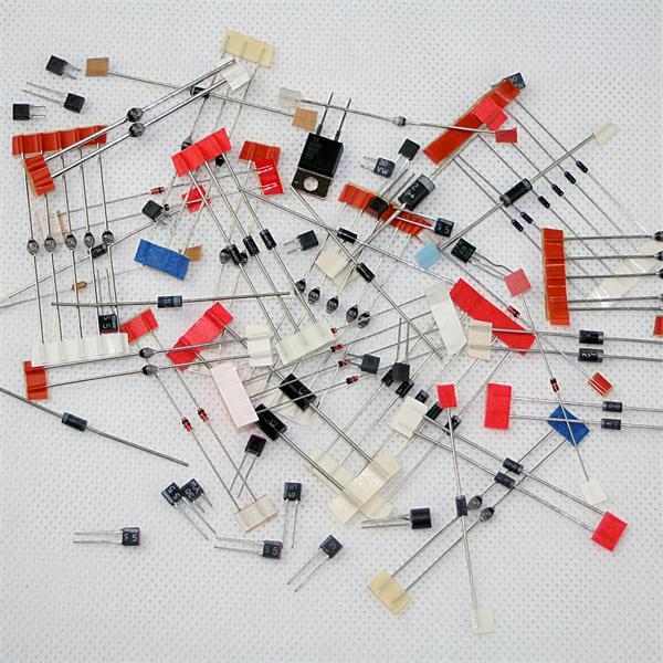 Sortiment von Siliziumdioden mit verschiedenen Typen und Ausführungen