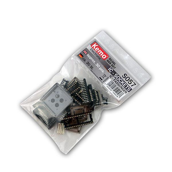 Sortiment IC-Fassungen ca. 30 Stück, Fassung ICs