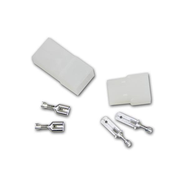 1 Paar Steckverbinder 2-polig, mit Verriegelung