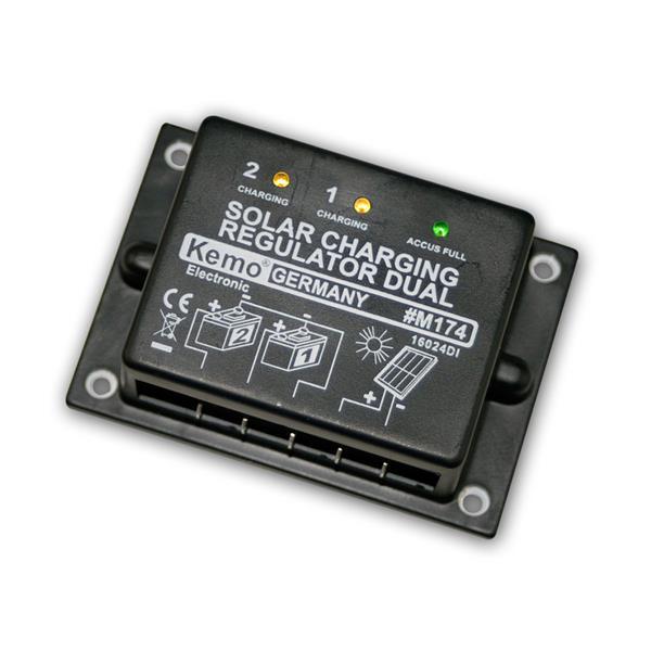 Solar-Laderegler 12 V/DC, Dual 16A, Akkuschutz