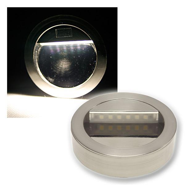 LED Wandeinbauleuchte Chrom-matt Aufbauleuchte