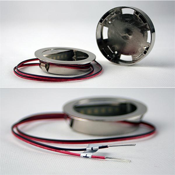 12V Leuchtmittel LED mit dem Maß ca. 68x14,5mm (ØxH) und optionaler Aufbaudose