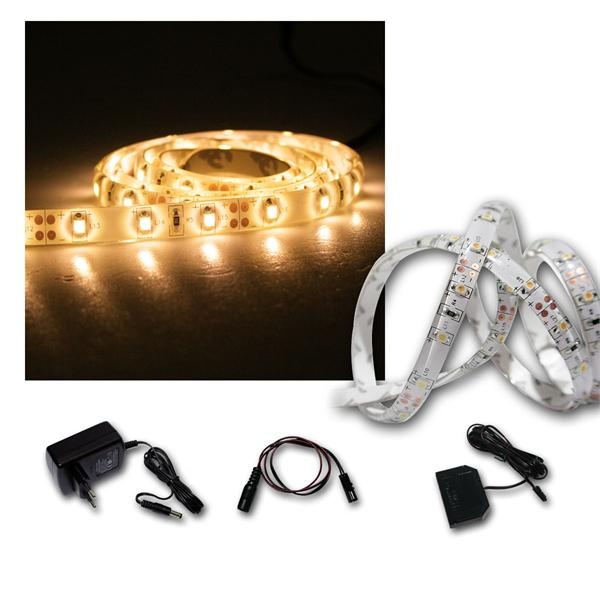 LED Lichtband Set 4x1m warmweiß + Trafo SMD-Stripe