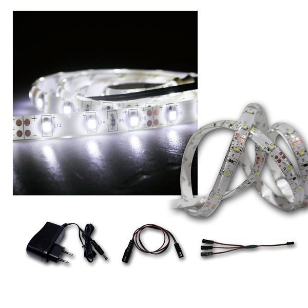 LED Lichtband Set 2x1m kaltweiß + Trafo SMD-Stripe