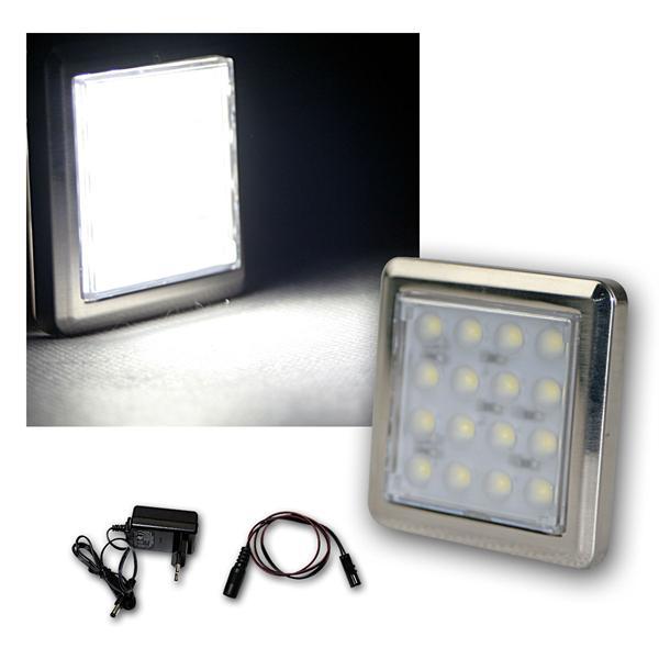 """Set LED Unterbauleuchte """"Quattro"""" kalt-weiß +Trafo"""