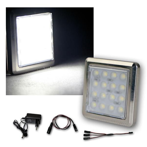 2er Set LED Unterbauleuchte Quattro kalt-weiß +Trafo