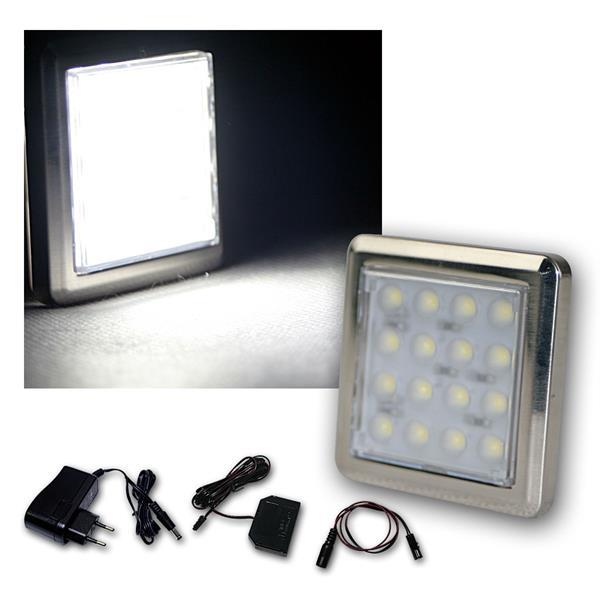 5er Set LED Unterbauleuchte Quattro kalt-weiß +Trafo