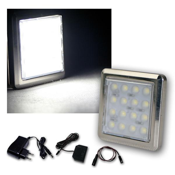 6er Set LED Unterbauleuchte Quattro kalt-weiß +Trafo