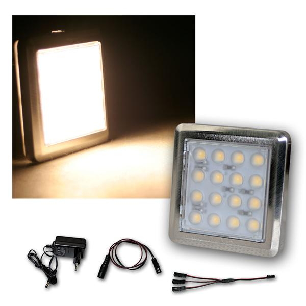 3er Set LED Unterbauleuchte Quattro wa-weiß +Trafo