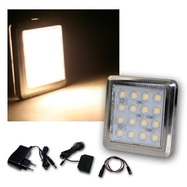 5er Set LED Unterbauleuchte Quattro wa-weiß +Trafo