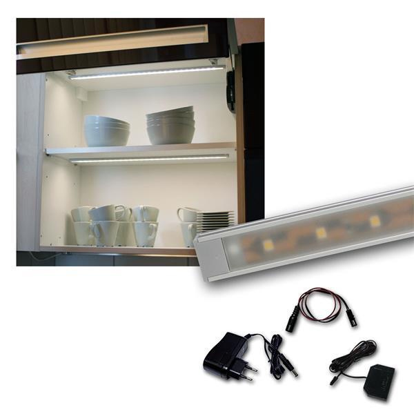 "Set LED Lichtleiste 4 x ""WTN-Flat 50cm"" kalt-weiß"