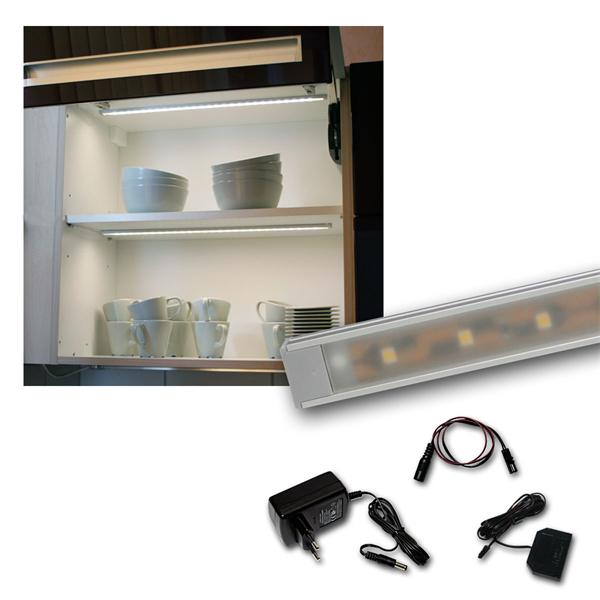 "Set LED Lichtleiste 6 x ""WTN-Flat 50cm"" kalt-weiß"