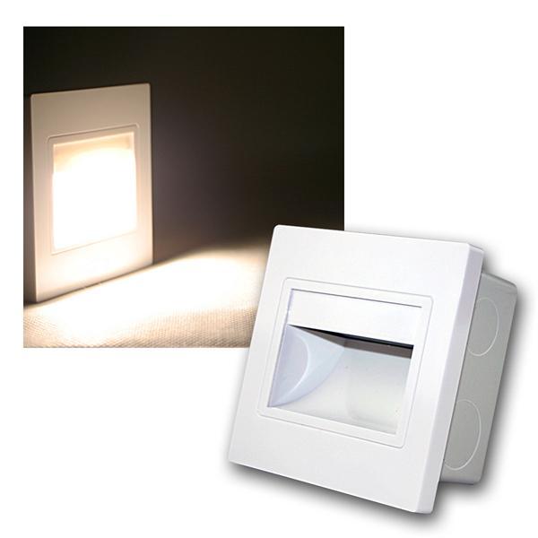 LED-Einbauleuchte EBL COB warm weiß Rahmen weiß