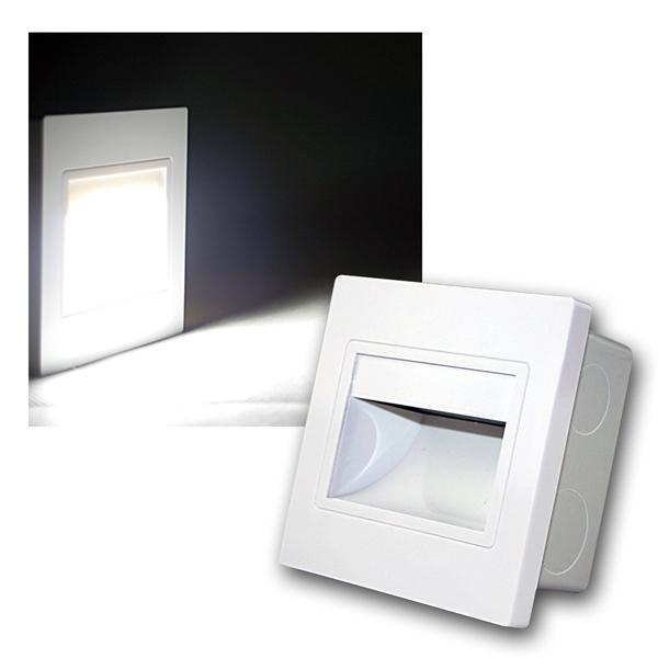 LED-Einbauleuchte EBL COB kalt weiß Rahmen weiß