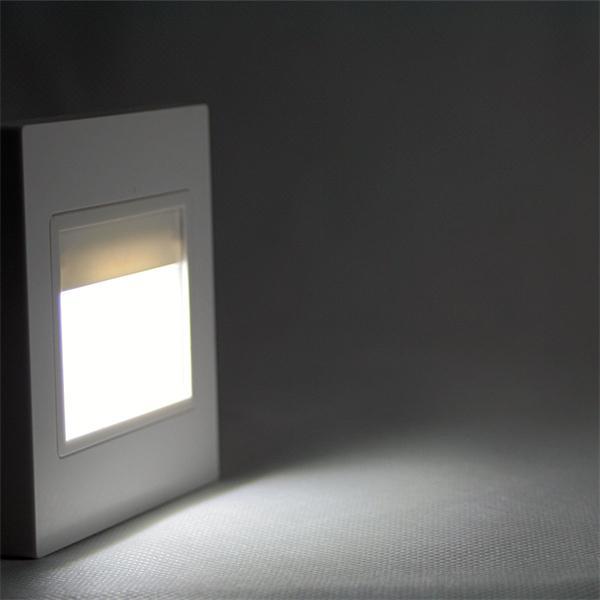 LED Wandeinbaustrahler mit einer modernen COB-LED und ca. 110lm Lichtstrom