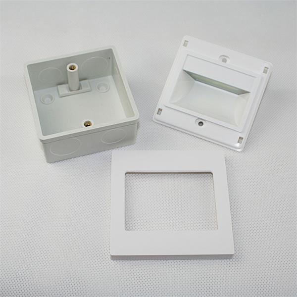 LED Wandeinbauleuchte mit dem Maß ca. 94x94x35mm (LxBxH)