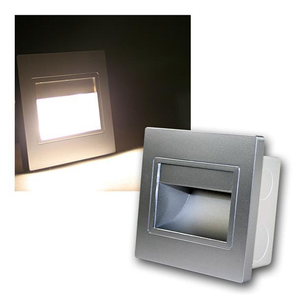 LED-Einbauleuchte EBL COB warm weiß Rahmen silber